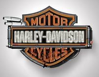 Harley-Davidson Bar & Shield