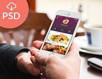 FREE PSD! Flat Mobile App UI