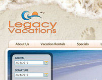 Legacy Vacations - E-Commerce Website