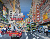 depiction of Wanchai HK