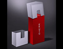 kruto vodka package design