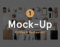 Coffee & Restaurant Stationery Mock-Up