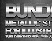 101 Metal Text Effect for Adobe Illustrator