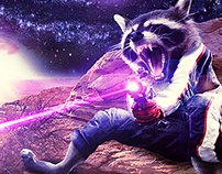 Rocket Raccoon Image Manipulation Process