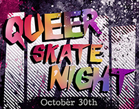 LGBTQ Skate Night Flyer
