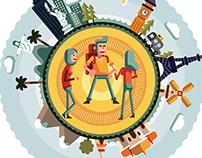 Illustration for Men's Health Brazil