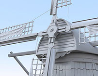 High Poly Dutch Windmill