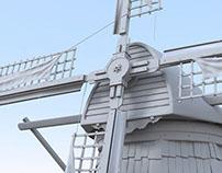 High Poly Dutch Windmill