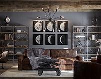 Restoration Hardware - Living Room