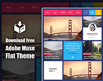 Download Adobe Muse Flat Theme