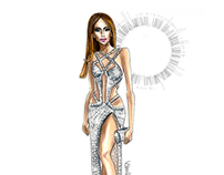 JLo in Charbel Zoe Couture