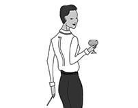 Ilustración Coco Chanel