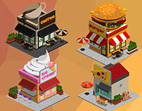 2D Isometric Game Asset - City Build set vol.1