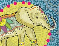 Ilustrated Indian Elephant