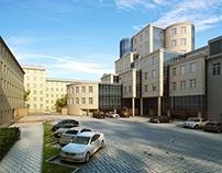 """3D visualization for """"Elizavetinskii"""" Business Center"""