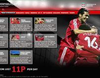 Misc Liverpool FC Web & print Design