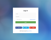 Bootstrap login forms