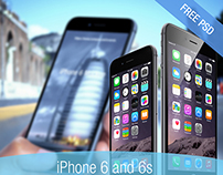 Free iPhone 6 mockup PSDs and much much more for free.