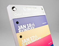 COLOR SWATCH CALENDAR 2015
