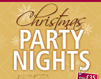 Thornton Hall Hotel Christmas Party Nights Poster