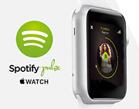 Spotify Pulse - Apple Watch UI