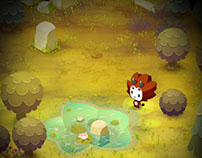"""Little Monster"", Facebook game visual development"