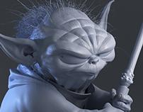 Yoda, 3D sculpt