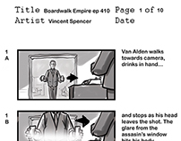 Storyboards Boardwalk Empire Season 4 ep 10