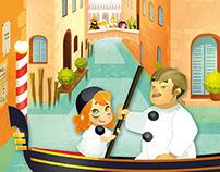 """""""Enquête à Venise"""", Interactive story"""