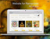 Website for Ramandala. Art of Asia