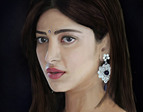 Digital Painting of Shruti Hasan