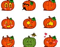 Jack O'Lantern stickers - package 2