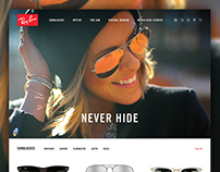 Ray-Ban Website Concept