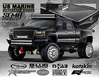 SEMA 2014 US Marine GM 3500
