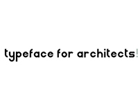Architectural typeface