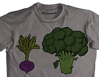 Shirt Stamp - Broccoli and Beetroot