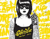 Kurt Vile & Blondie posters (TBD Fest)