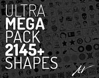 ULTRA-MEGA PACK 2145+ SHAPES FOR PHOTOSHOP