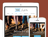 TOMS Fall 2014 email campaign