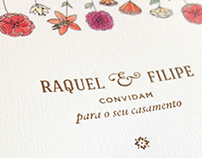 Raquel & Filipe Wedding Invitation