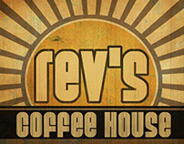 Rev's Coffee House: logo and signage