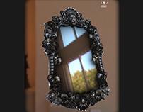 """Miroir Ornement Fleur low poly """" temps 3 jours"""""""