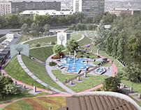 """Azerbaijan"" Park in Odessa. Ukraine"