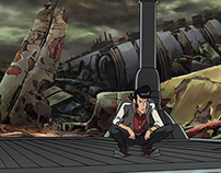 """Space Dandy"" Backgrounds"