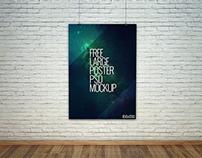 Freebie - Large Poster PSD Mockup