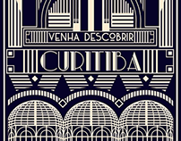 Discover Curitiba (Art Deco inspired illustration)