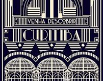 Discover Curitiba (Art Deco inspired illustration)