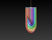 Three-dimensional Rainbow Ceiling Light