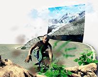 Photomontage Longskate Vélo