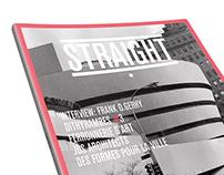STRAIGHT magazine layout